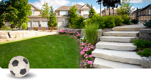 Landscaped residential property