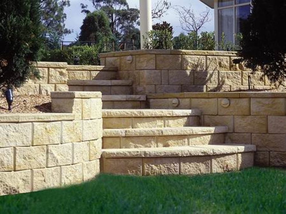 Stone Wall Blocks : How to build a retaining walls denbok landscaping design
