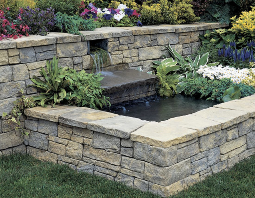 How to build a retaining walls denbok landscaping design for Landscape blocks